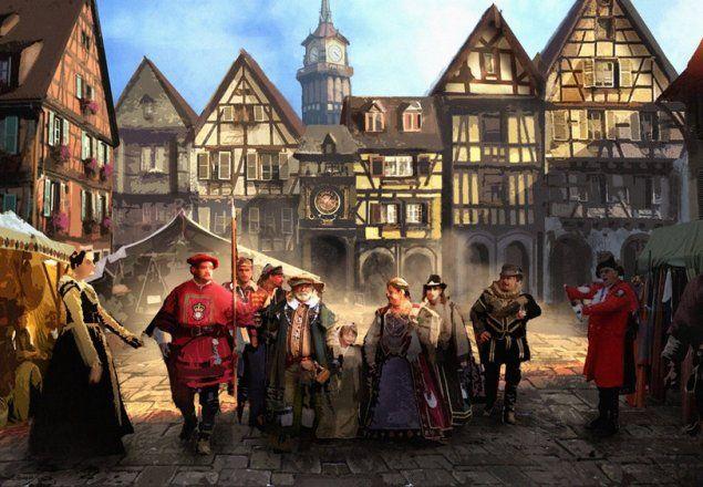 medieval fantasy town market rpg atmosphere places artwork audio music dance landscape mixer manor game dark sound ambient
