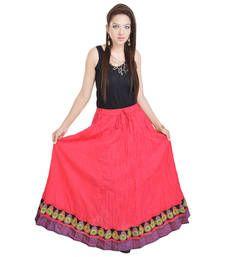 Buy Rajasthani Pink Cotton Long Lehanga skirt online