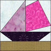 Block of Day for August 19, 2015 - Open Sails #LetsQuilt