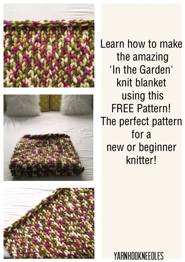 The Perfect Beginner Knit Blanket with FREE Pattern! - YarnHookNeedles -