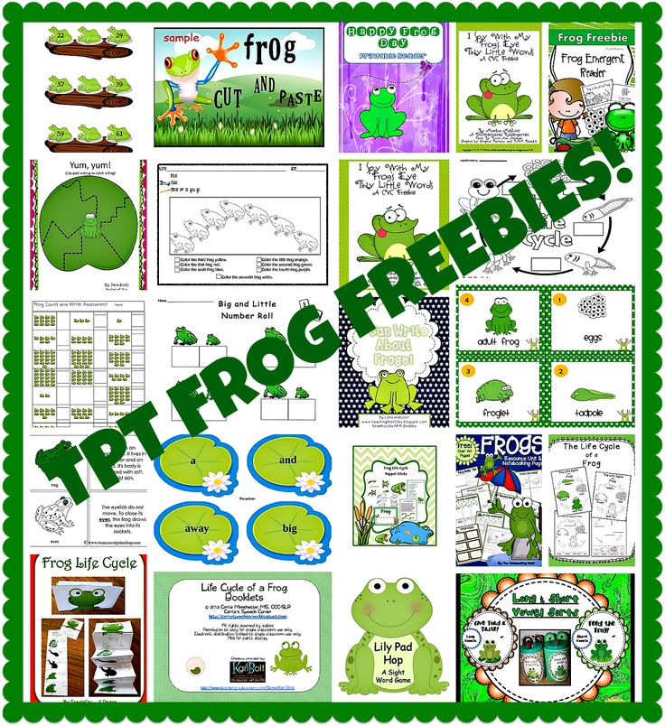 Frogs and Lots of Frog Freebies by Carolyn from Kindergarten: Holding Hands and Sticking Together at PreK + K Sharing