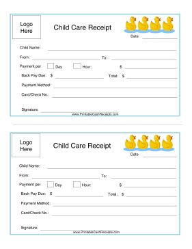 daycare receipts
