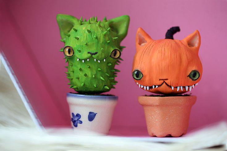 tiny cat plants by da-bu-di-bu-da.deviantart.com on @DeviantArt