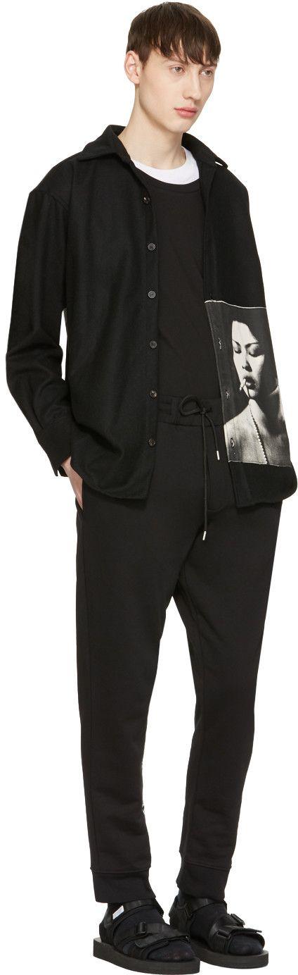 McQ Alexander Mcqueen - Black Goth Tattoo Lounge Pants