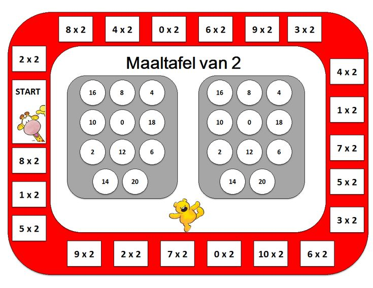 Maaltafel van 2 Bingo