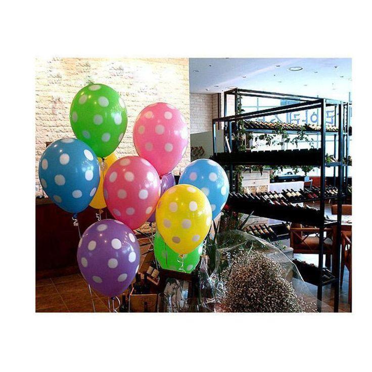 10 шт. воздушные шары Рождество Свадьба День Рождения Воздушные Шары Партии Надувные Шары Латексные Шары Моделирование Партия Dot Украшения WOct5 купить на AliExpress