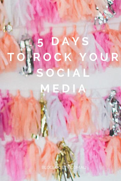 Ready to rock your social media? Blog Society delivering tips and actionable advice straight to your inbox for 5 straight days to get your social media planning back on track. Join our newsletter list by simply entering your email address via this link, and access our FREE 5-day email course NOW!