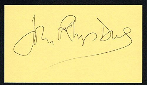 John Rhys-Davies signed autograph 3x5 card Actor: Gimli in The Lord of the Rings @ niftywarehouse.com #NiftyWarehouse #Spongebob #SpongebobSquarepants #Cartoon #TV #Show