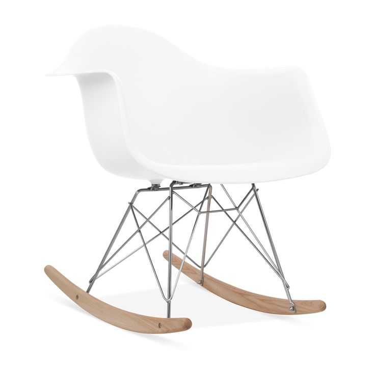 Charles E Rocking Chair de Style RAR Blanc