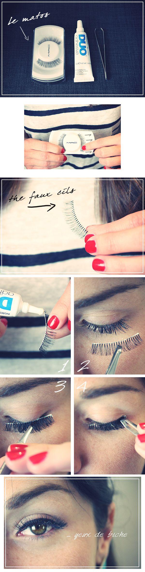 faux cils - http://www.jessicagrandoni.com/comment-poser-des-faux-cils/