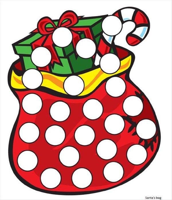 Coloriages gommettes de Noël en couleur 11