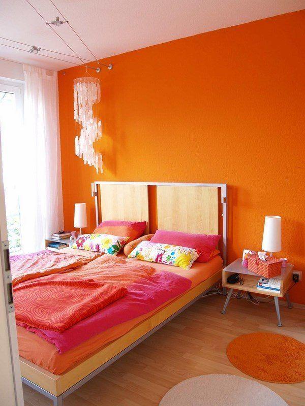 Orange Bedroom Design Analogous Color Scheme Ideas Orange