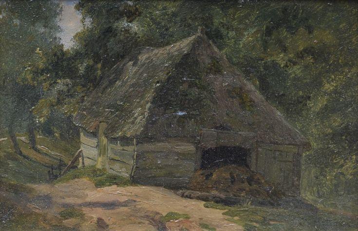 Jan Willem van Borselen (1825-1892) Titel: Schuur - Artiquair