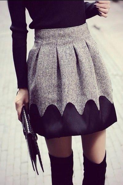 Варианты как удлинить юбку