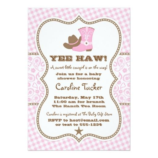 Best Cowgirl Baby Shower Invitations Images On