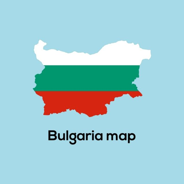 Flag Map Of Bulgaria Logo Vector Map Country Backgrounds Flag