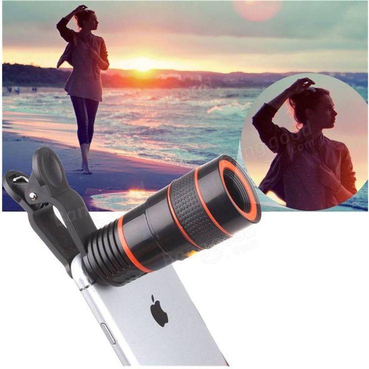 8x zoom óptico de la lente de cámara del telescopio universal para teléfono móvi