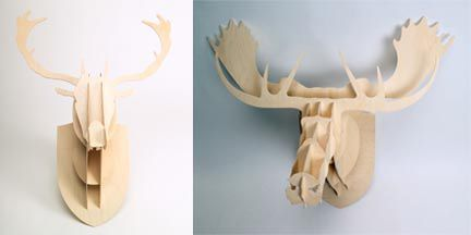 Every home needs a bit of whimsy!  I know just where to put this moose...