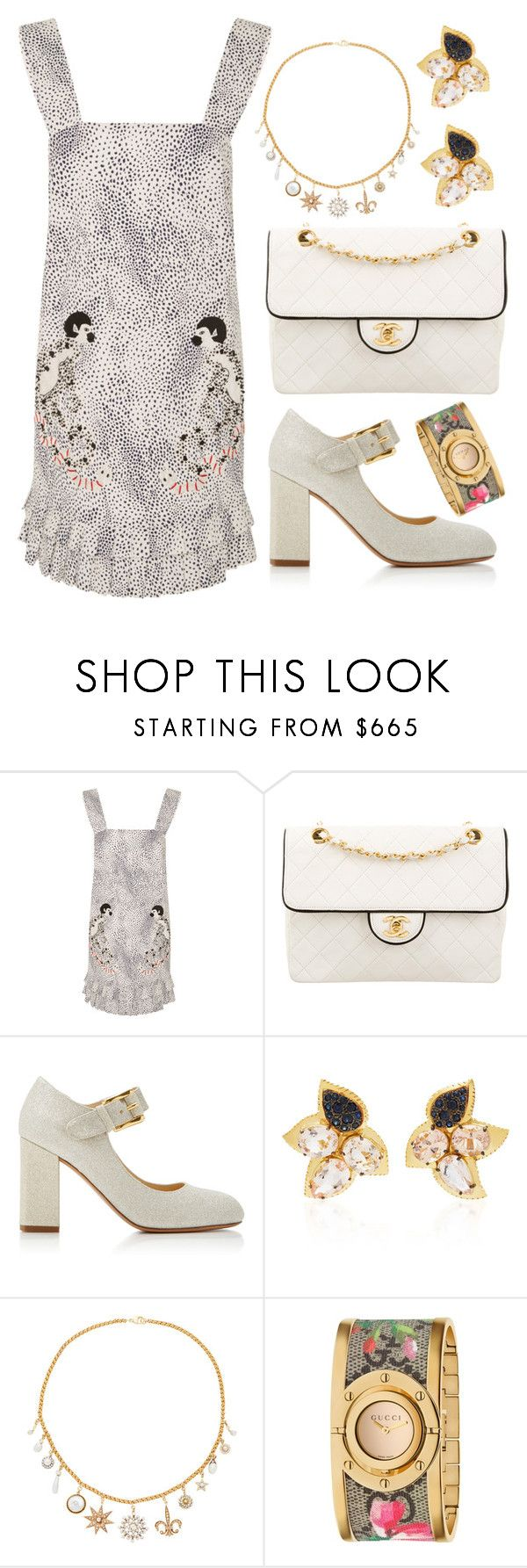 """""""3439"""" by lexi96z ❤ liked on Polyvore featuring Leal Daccarett, Chanel, CO, Carol Kauffmann, Renee Lewis and Gucci"""