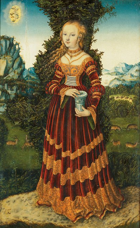Lucas Cranach the Elder, St Mary Magdalene in a Landscape (1525)