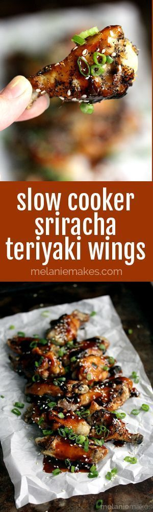 Bench the buffalo sauce and fryer! These Slow Cooker Sriracha Teriyaki Wings are the perfect game day appetizer. A sticky, sweet heat chicken wing that takes just minutes to prepare.