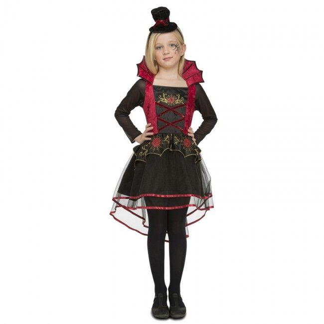 Disfraz Vampiresa Roja elegante niña para Halloween #disfraces #carnaval #novedades2017
