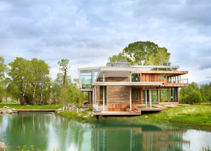 Big Timber Riverside dans le Montana par Hughes Umbanhowar Architects - Journal du Design