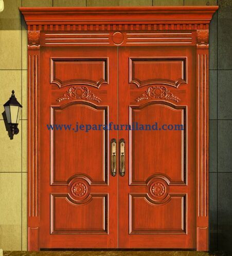 Kusen Pintu Double Ukir Tradisional