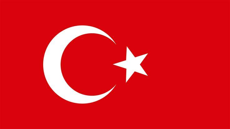 La media luna de la bandera de Turquía