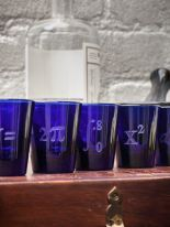 handcrafted cobalt blue glasses birthday gift