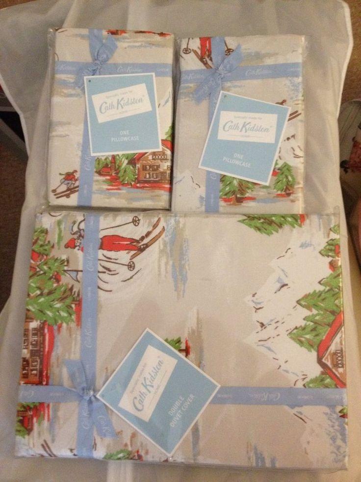 Cath kidston Ski Scene Double Duvet Cover And Two Pillowcases.