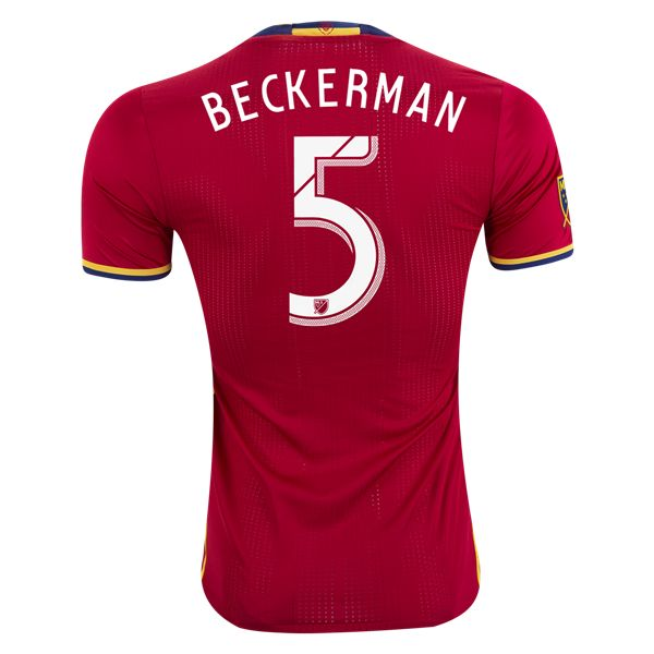 adidas Kyle Beckerman Real Salt Lake Authentic Home Jersey 2016