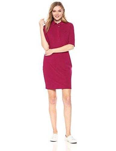 6a77c486b Lacoste Womens Half Sleeve Stretch Pique Polo Dress