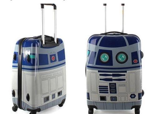 R2D2 rolling suitcase :)
