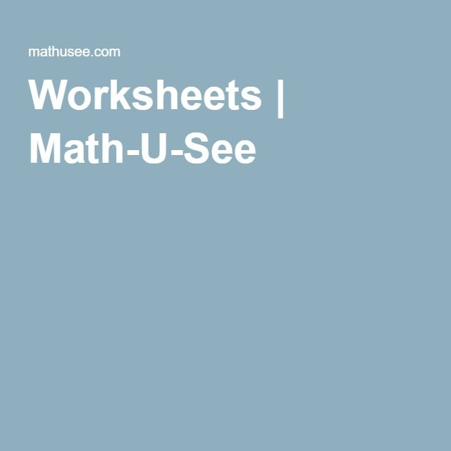 41 best Homeschool - MathUSee images on Pinterest | Mathematics ...