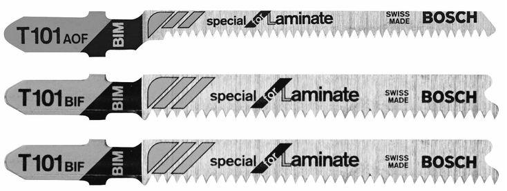 Bosch T503 Hardwood/Laminate Flooring T-Shank Jig Saw Blade Set, 3/Pack