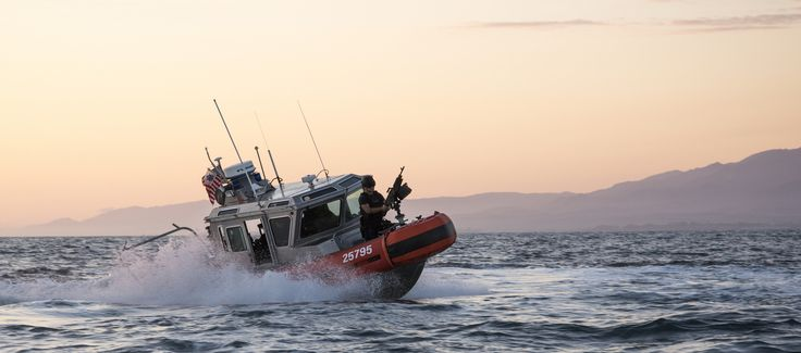 https://flic.kr/p/TaNjV7 | Protecting the Nation | Coast Guard Maritime Safety and Security Team Los Angeles conducts vessel manuever training near Santa Barbara, Oct. 24, 2016. The MSST operates several 25-foot Response Boat-Small platforms to complete a variety of law enforcement, security and vessel safety missions. Photo by Petty Officer 3rd Class Andrea L. Anderson.