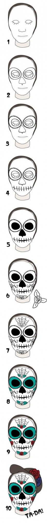 10 Steps To Day Of The Dead Make-Up