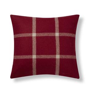 Northwood Check Cranberry Cushion