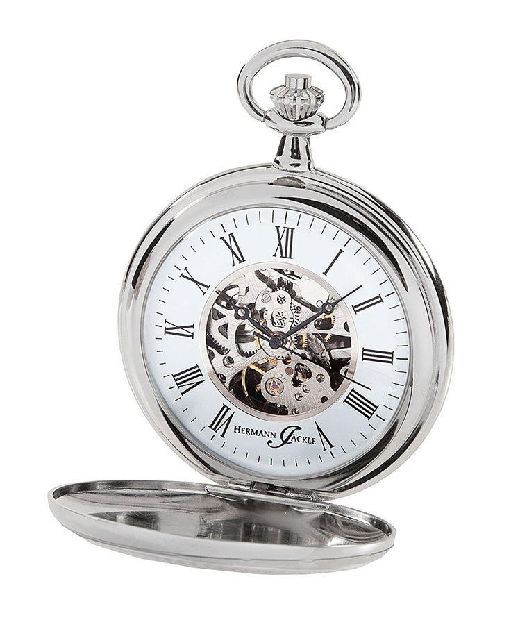 Hermann Jäckle Bayreuth Skelett Taschenuhr mit Handaufzug 31-913 incl. Kette & Uhrenbox: Amazon.de: Uhren