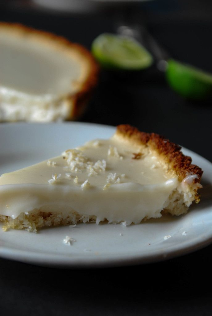 Vegan Key Lime Pie with Toasted Coconut Crust | The Frosted Vegan