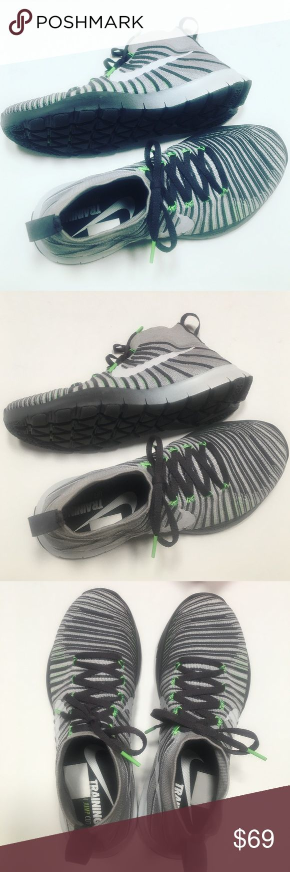 Like New Nike Free Train Force Fly Knit Designed for training. I purchased these to workout. I wear a size 11 in women's shoes but I am actually a 10 and a half. I can wear a size 9 in men's shoes but prefer a size 10. I go a size up because of the socks I wear and I just want lots of toe space when working out. These shoes are a size 10 but fit like a 9. Like new no visible flaws. So if you are a woman and wear a size 9 in men's sneakers these will be fine. Men I recommend these only if you…