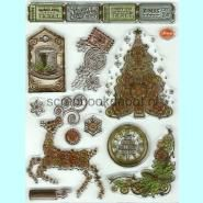 Viva Decor Clear Stempel - Steampunk Christmas Tree