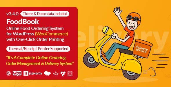 Foodbook Online Food Ordering Delivery System For Wordpress With One Click Order Printing In 2021 Online Food Order Food Wordpress