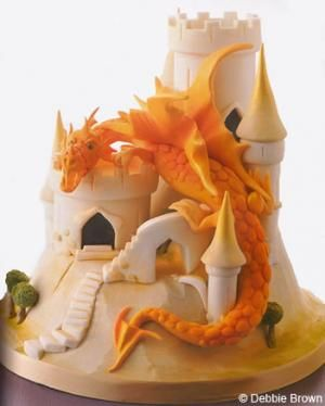 Unbelievable dragon cake from best-selling author/sugar artist Debbie Brown, proprietor of Debbie Brown Cakes in West London ~ Surrey, England....
