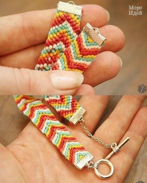 Плетем яркую фенечку - Бижутерия.Украшения