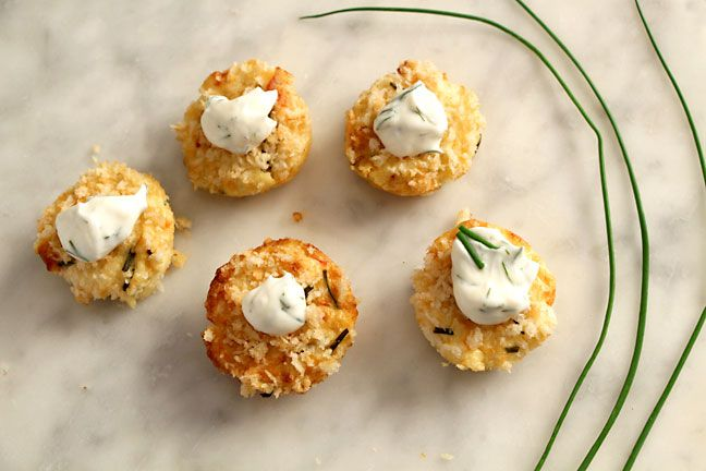 mini crabcakes.  will try to make a GF version of this