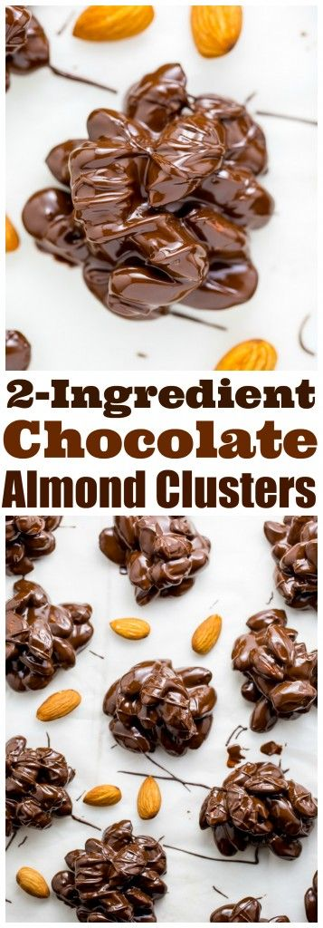 WHOA! These simple 2-Ingredient Chocolate Almond Clusters are easy, adaptable, and make great gifts!