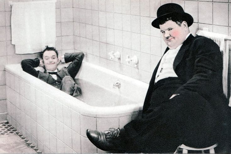 Laurel and Hardy.
