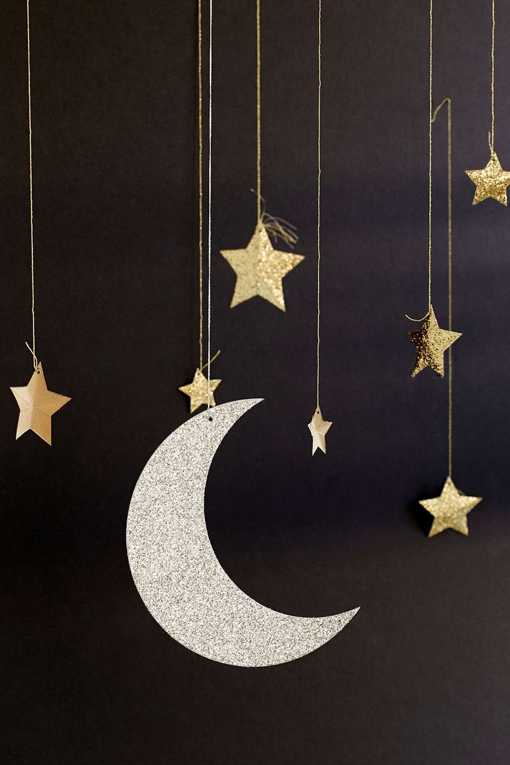 Moon and stars mobile. Handmade.